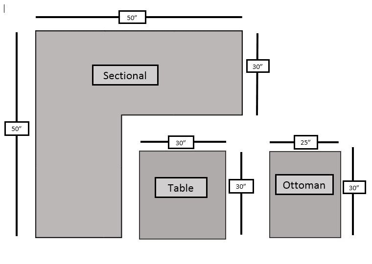 Rattan Sectional Rattan Set (5) PC