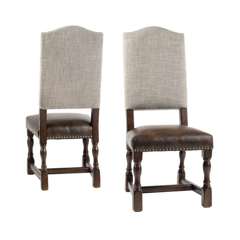 Jacobean Chair Side Linen Clay Primo Timber