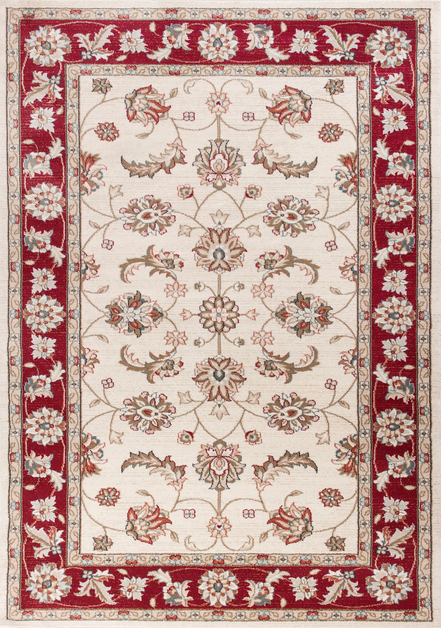 Avalon 5613 Ivory/Red Mahal