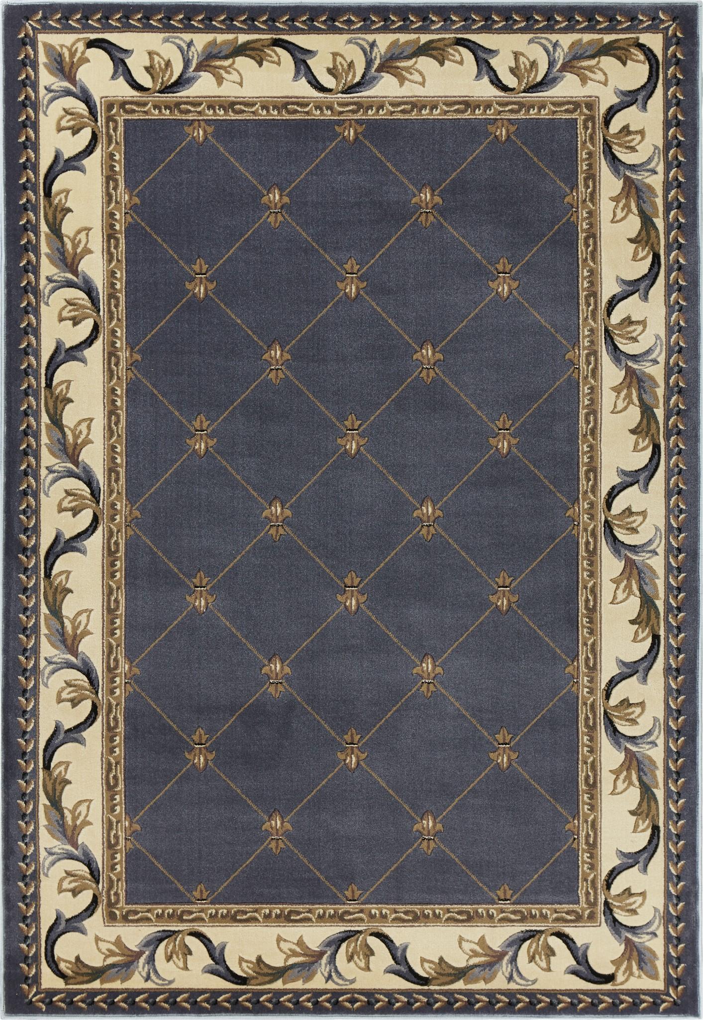 Corinthian 5320 Blue Fleur-De-Lis Roll Runner