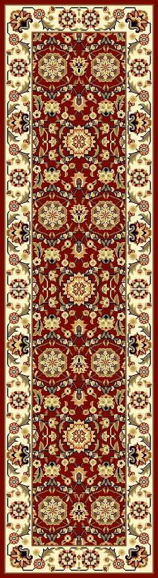 Cambridge 7306 Red/Ivory Floral Agra