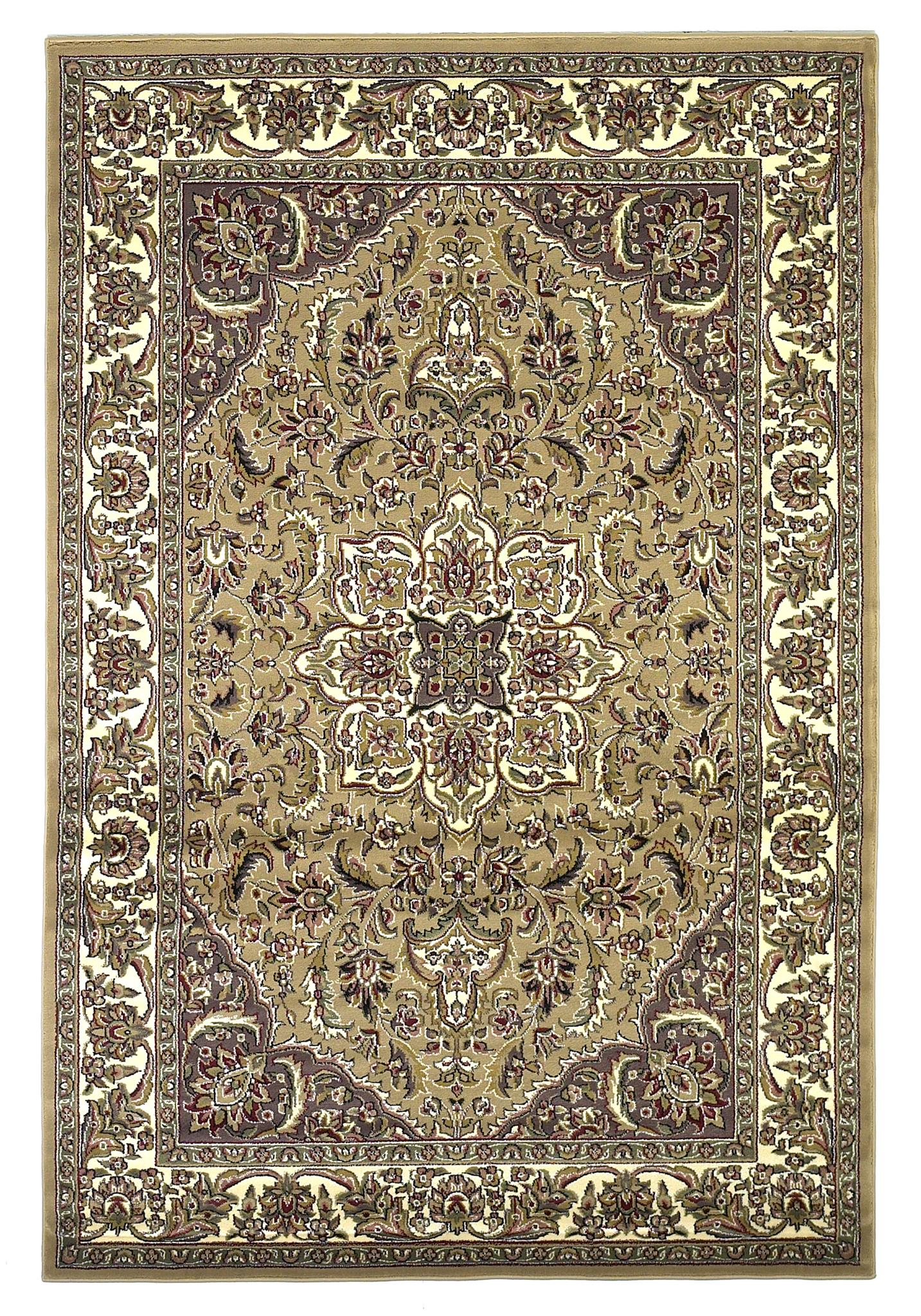 Cambridge 7328 Beige/Ivory Kashan Medallion