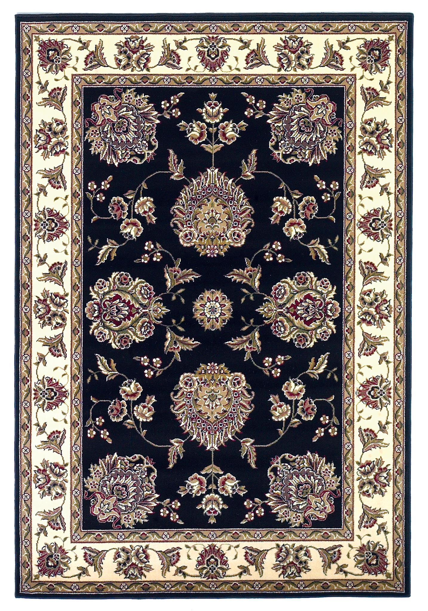 Cambridge 7339 Black/Ivory Floral Mahal