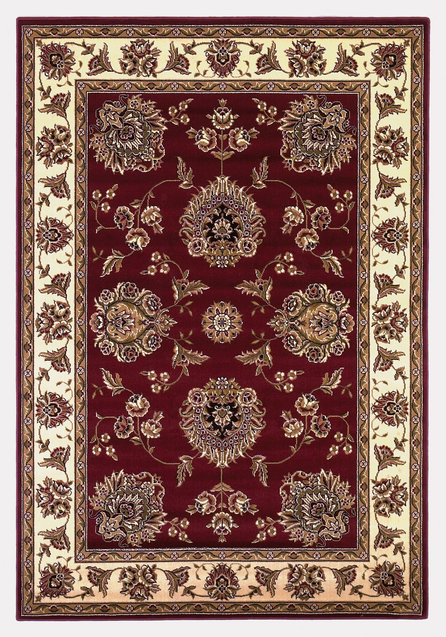 Cambridge 7340 Red/Ivory Floral Mahal