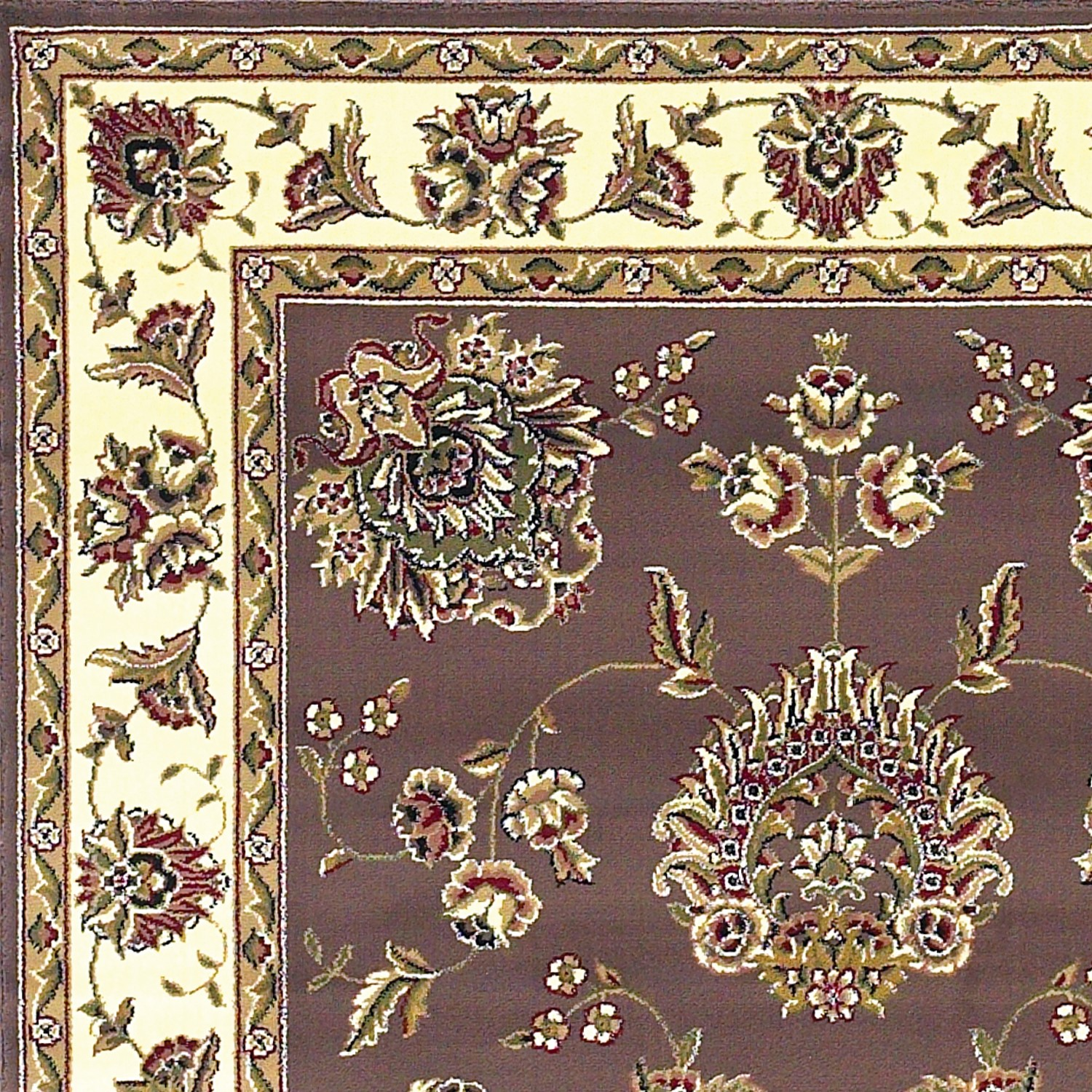 Cambridge 7341 Plum/Ivory Floral Mahal