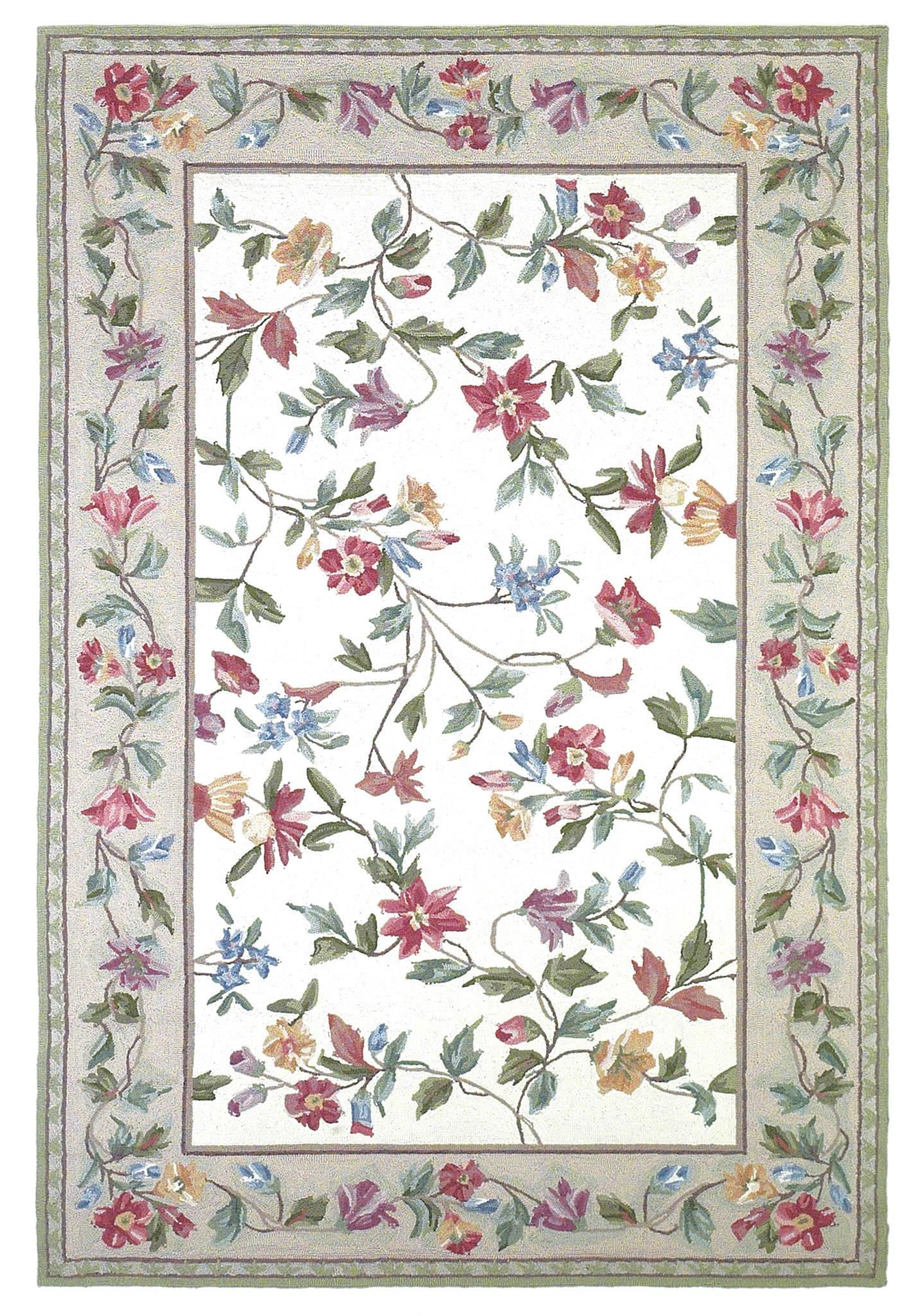Colonial 1707 Ivory Floral Vine