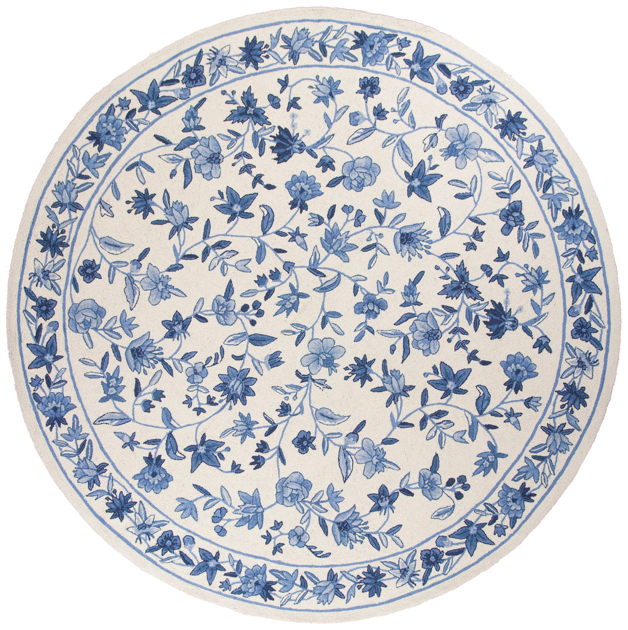 Colonial 1727 Ivory/Blue Floral