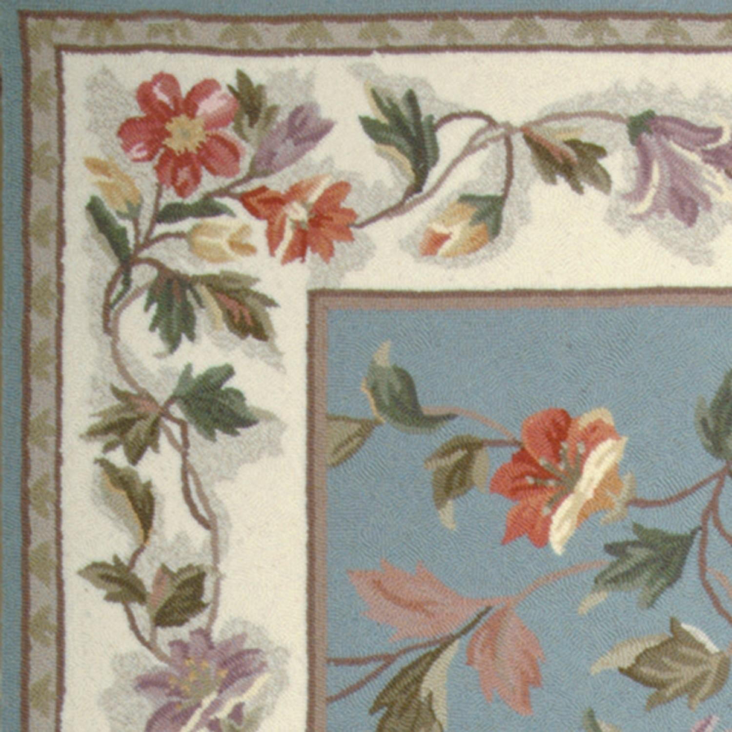 Colonial 1728 Slate Blue/Ivory Floral