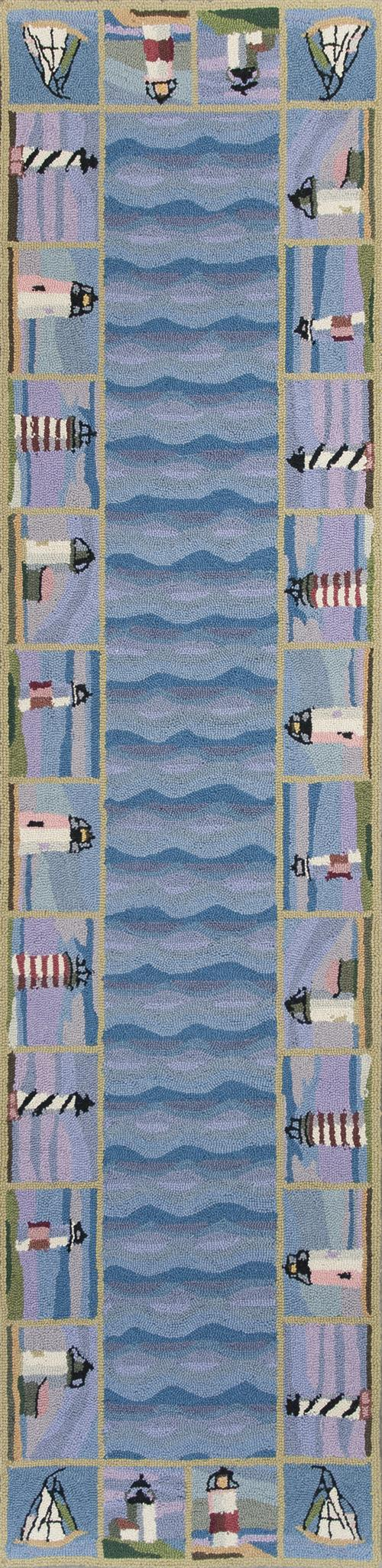 Colonial 1802 Blue Lighthouse Waves
