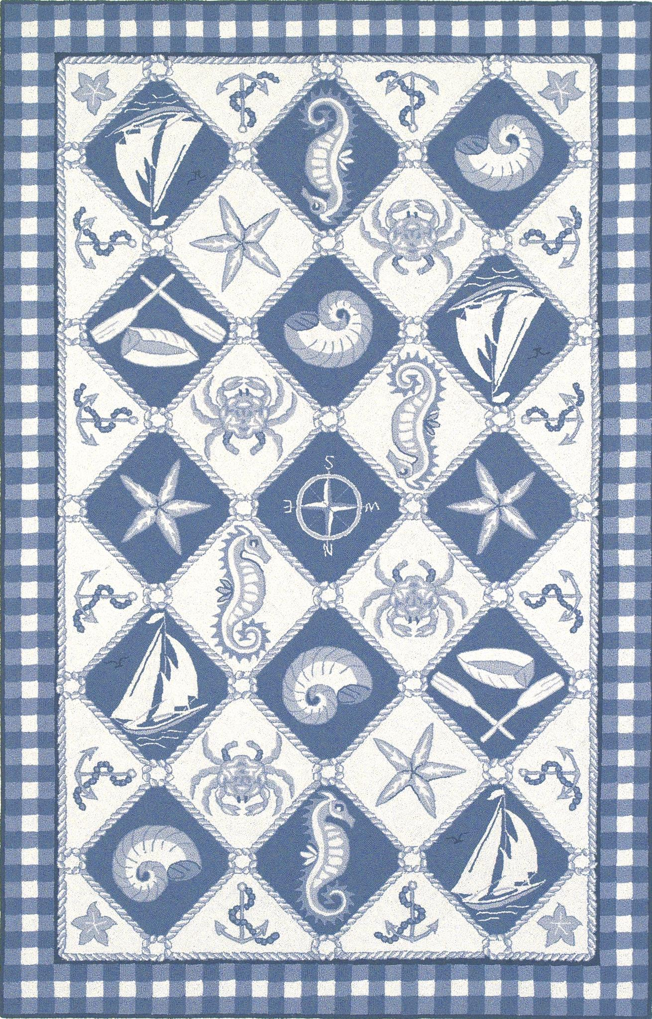 Colonial 1807 Blue/Ivory Nautical Panel