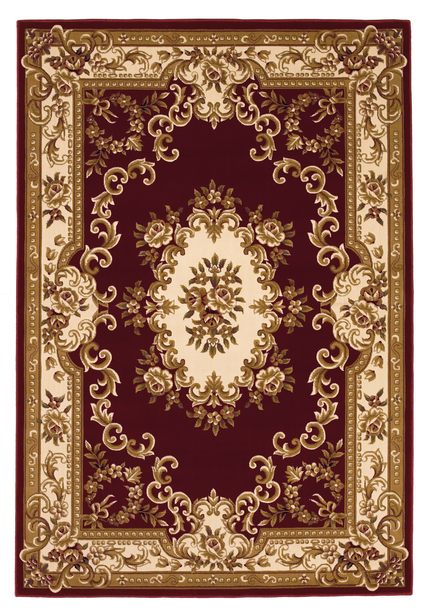 Corinthian 5308 Red/Ivory Aubusson