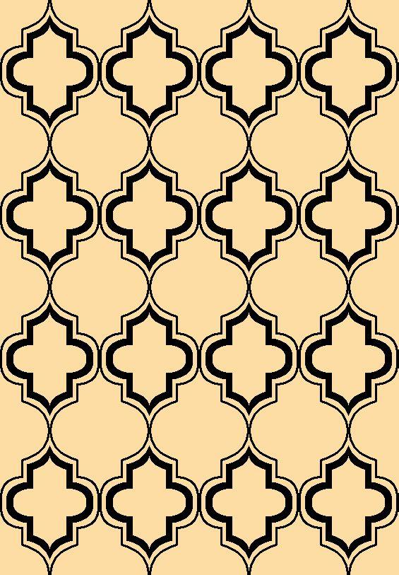 Corinthian 5370 Ivory/Black Arabesque