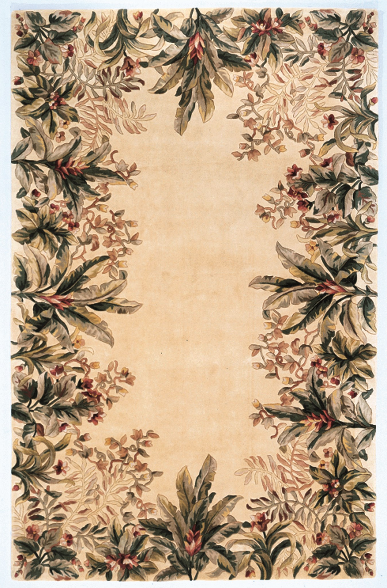 Emerald 9022 Ivory Tropical Border