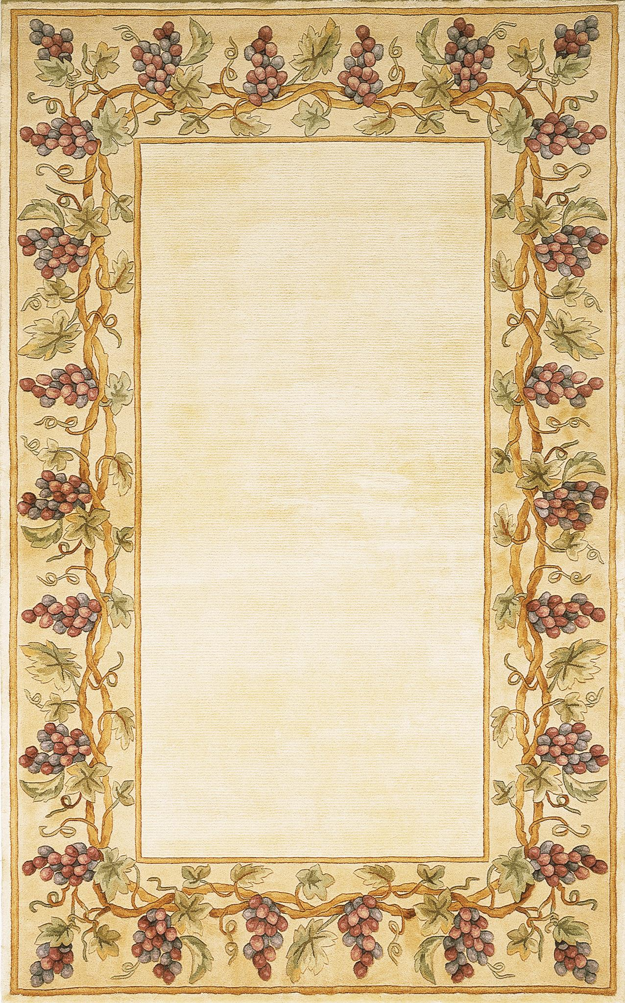 Emerald 9058 Ivory Grapes Border