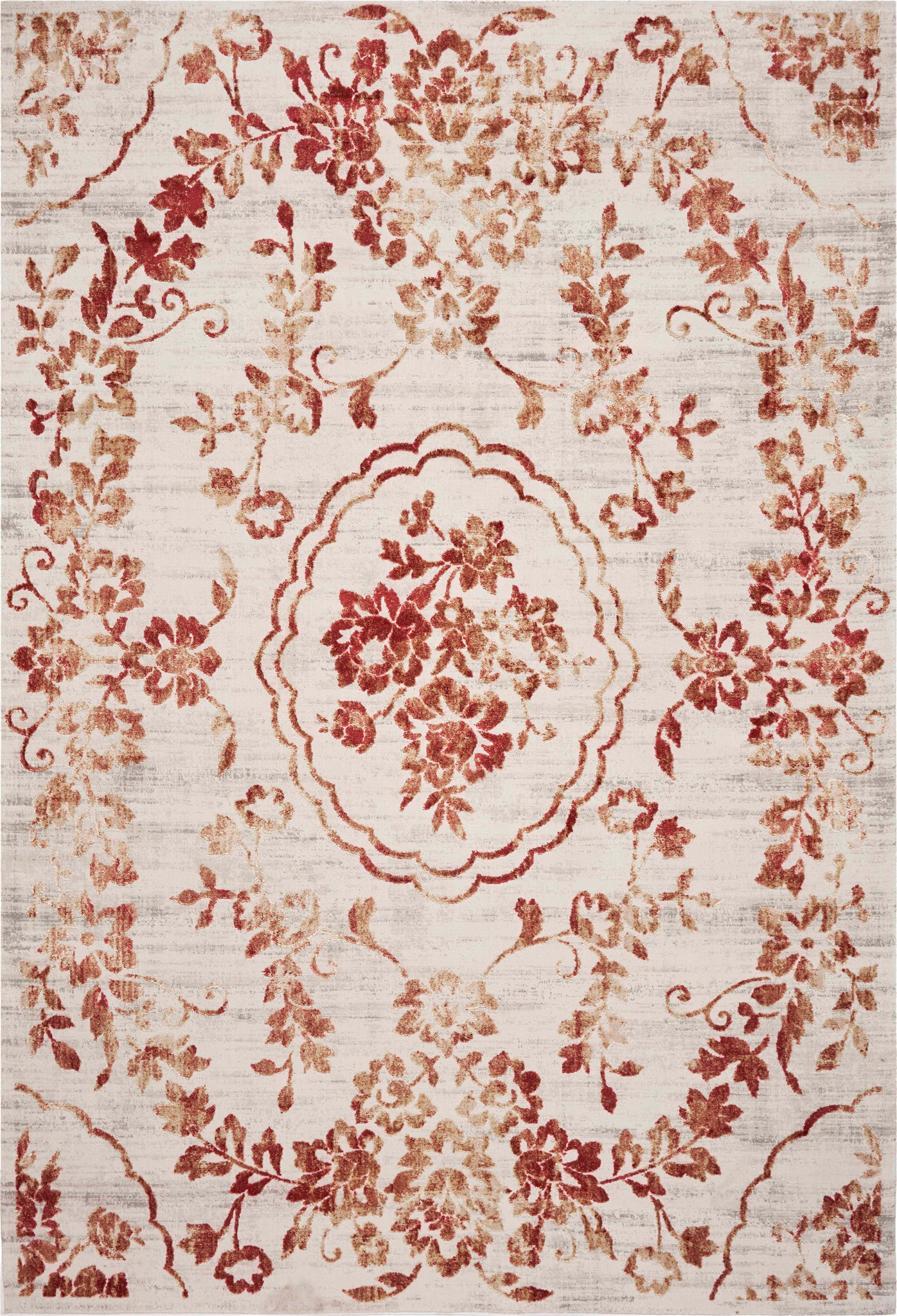 Empire 7060 Ivory/Red Flora