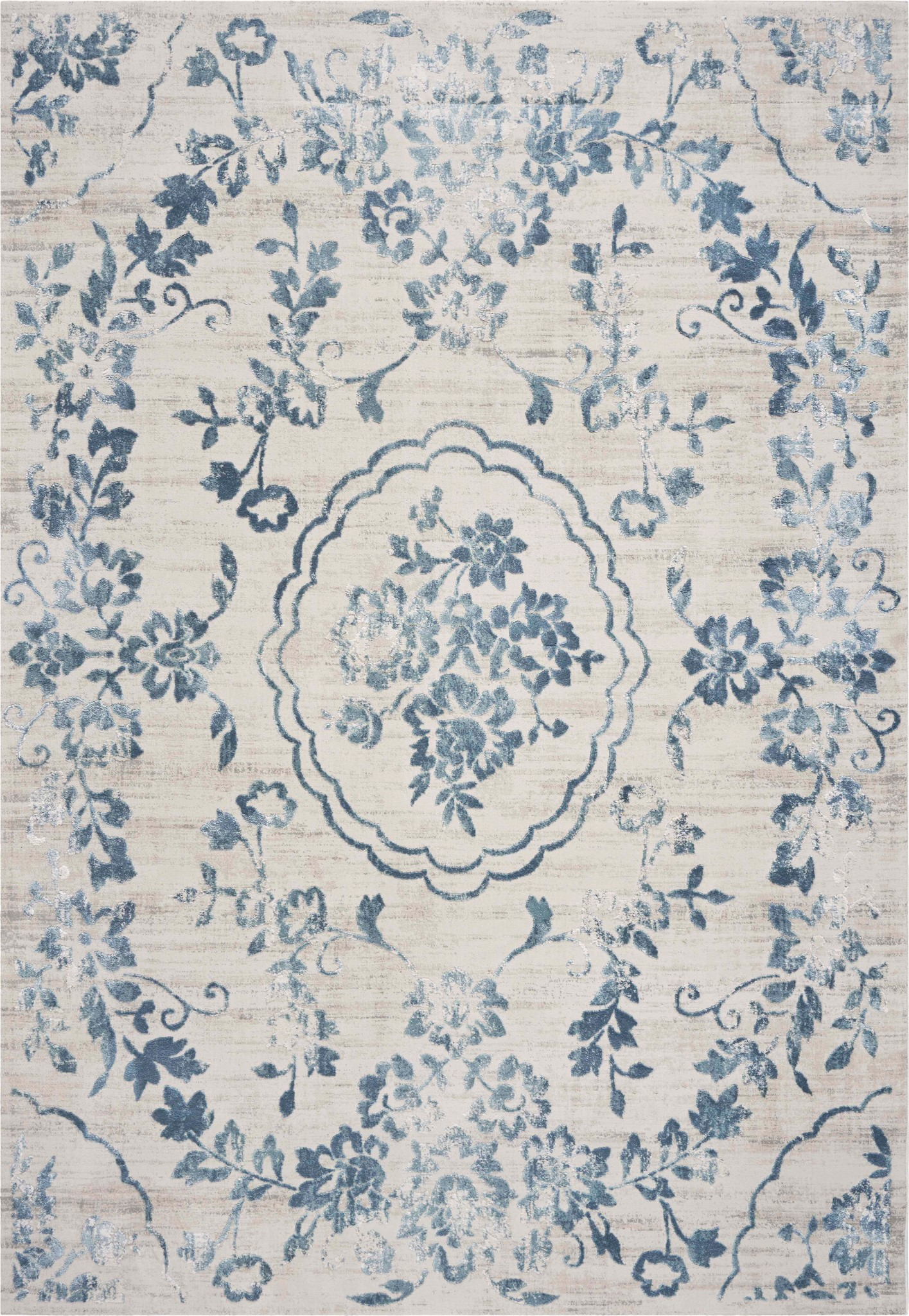Empire 7062 Ivory/Blue Flora