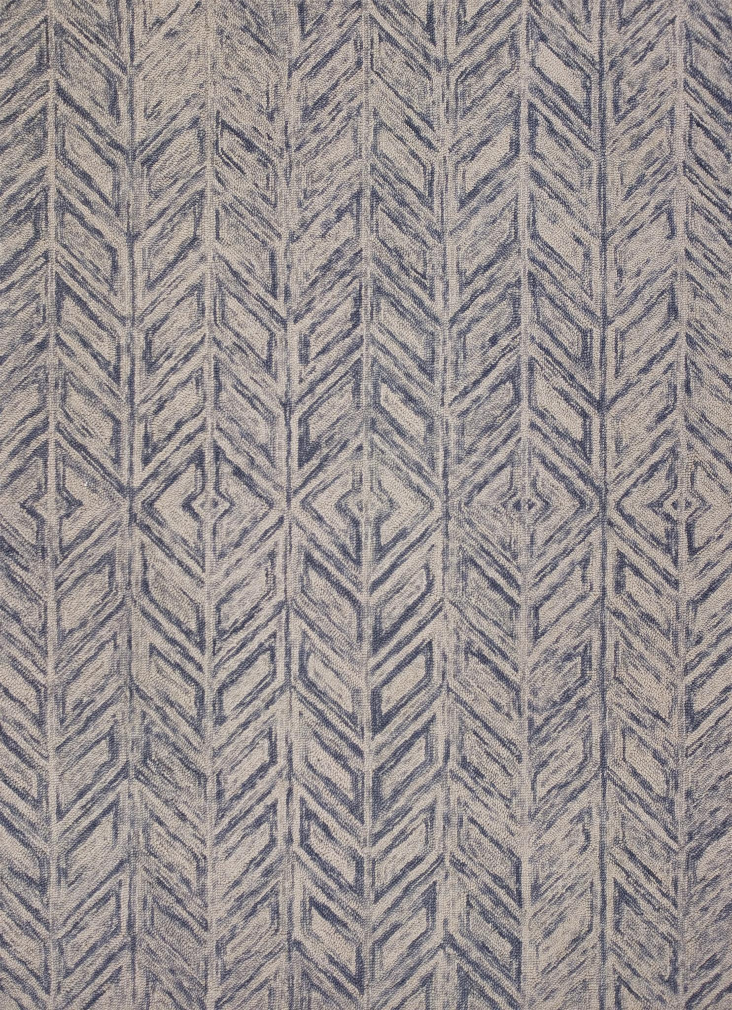 Gramercy 1611 Blue Heather Herringbone