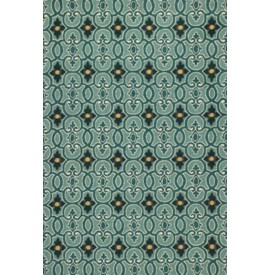 Harbor 4202 Teal Scrollwork