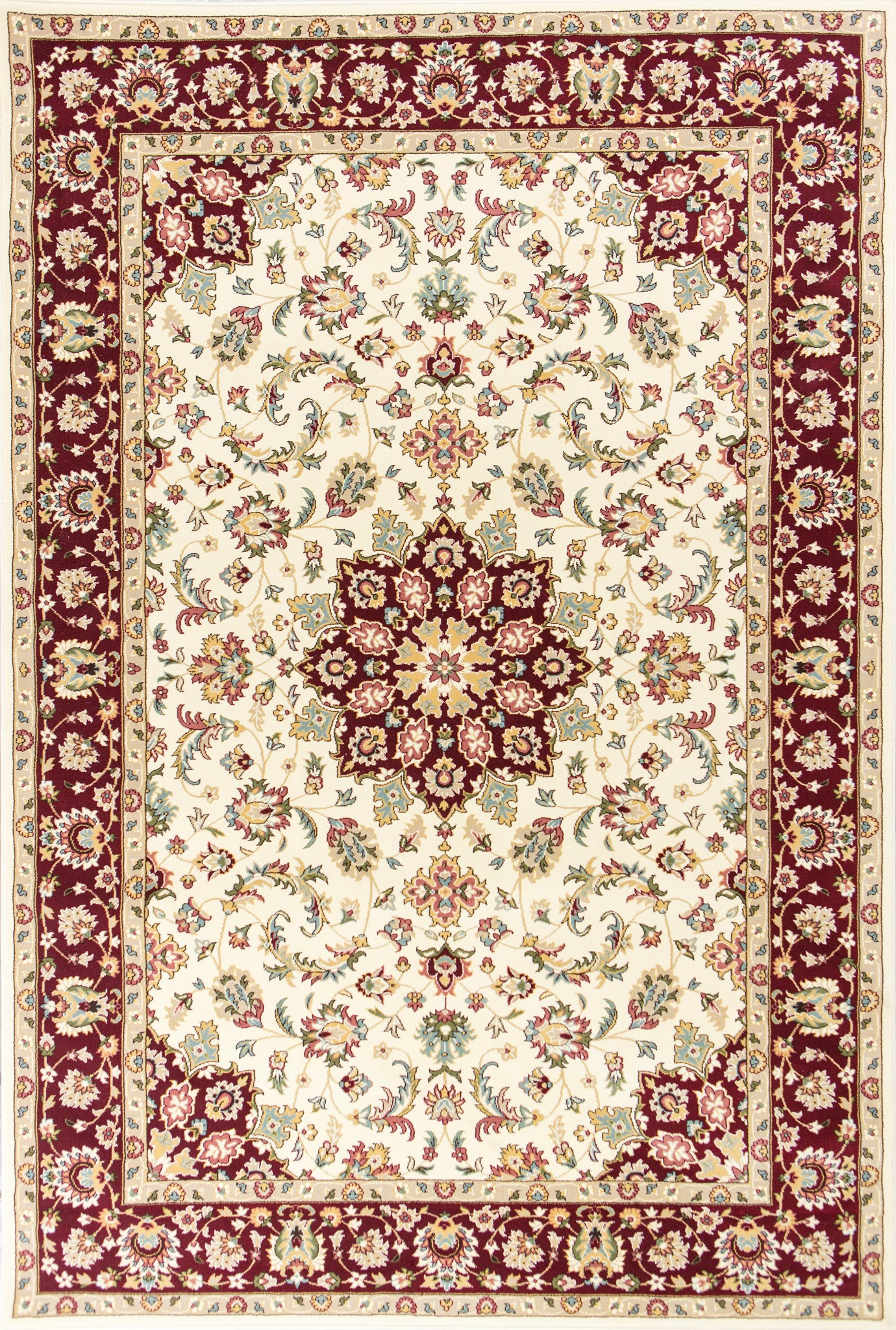 Kingston 6412 Ivory/Red Tabriz