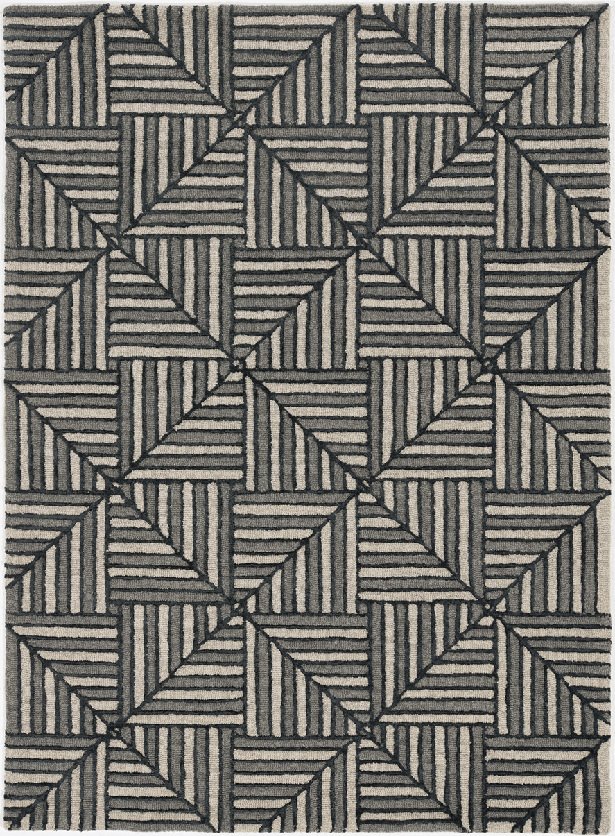 Libby Langdon Upton 4304 Navy/Charcoal Diagonal Tile