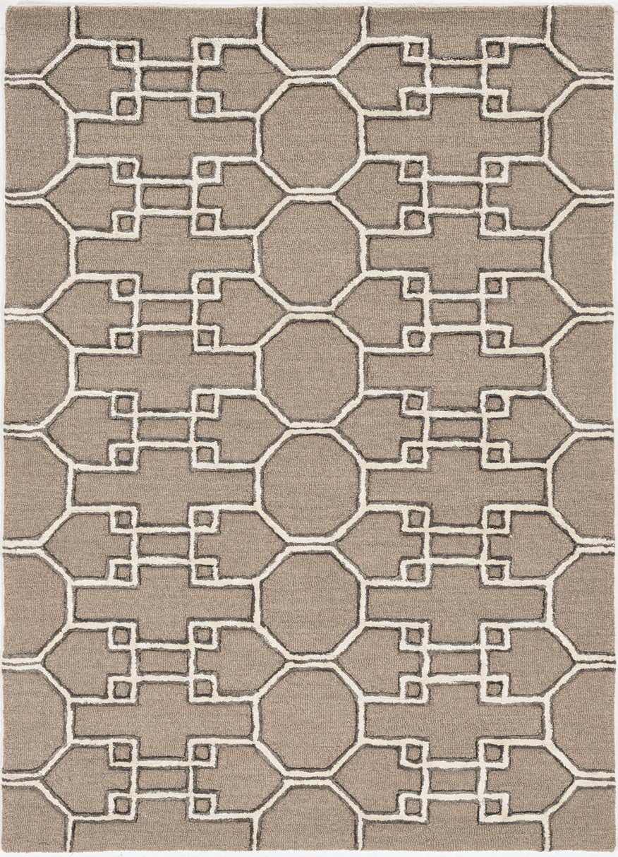 Libby Langdon Upton 4305 Mocha/Ink Asian Trellis