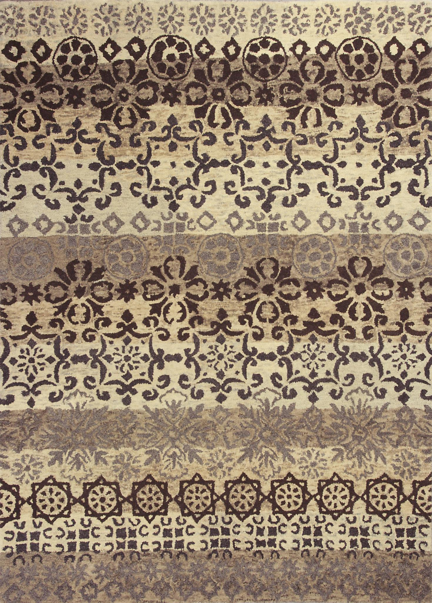 Marrakesh 4512 Ivory/Slate Damask