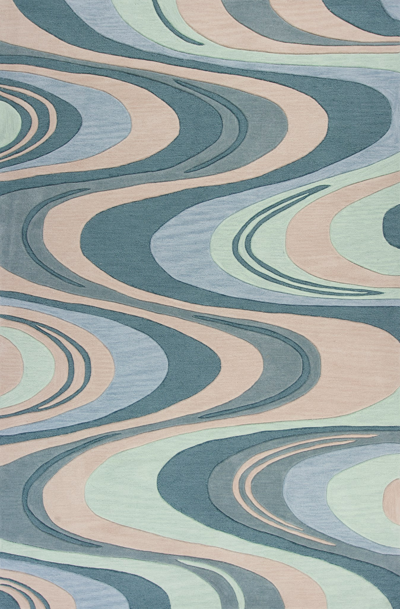 Milan 2125 Beige/Seafoam Waves
