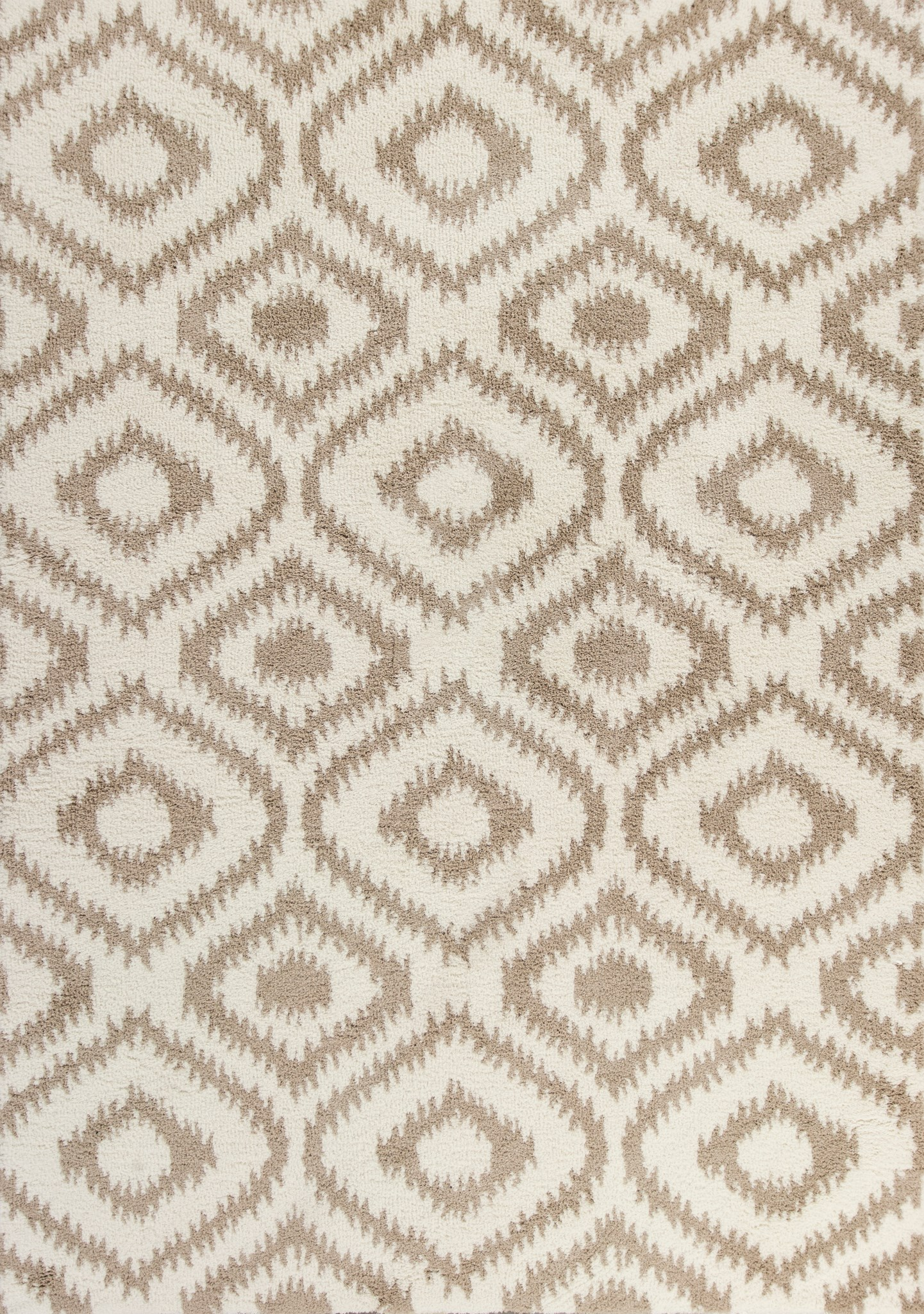 Oasis 1651 Ivory/Beige Concentro Shag