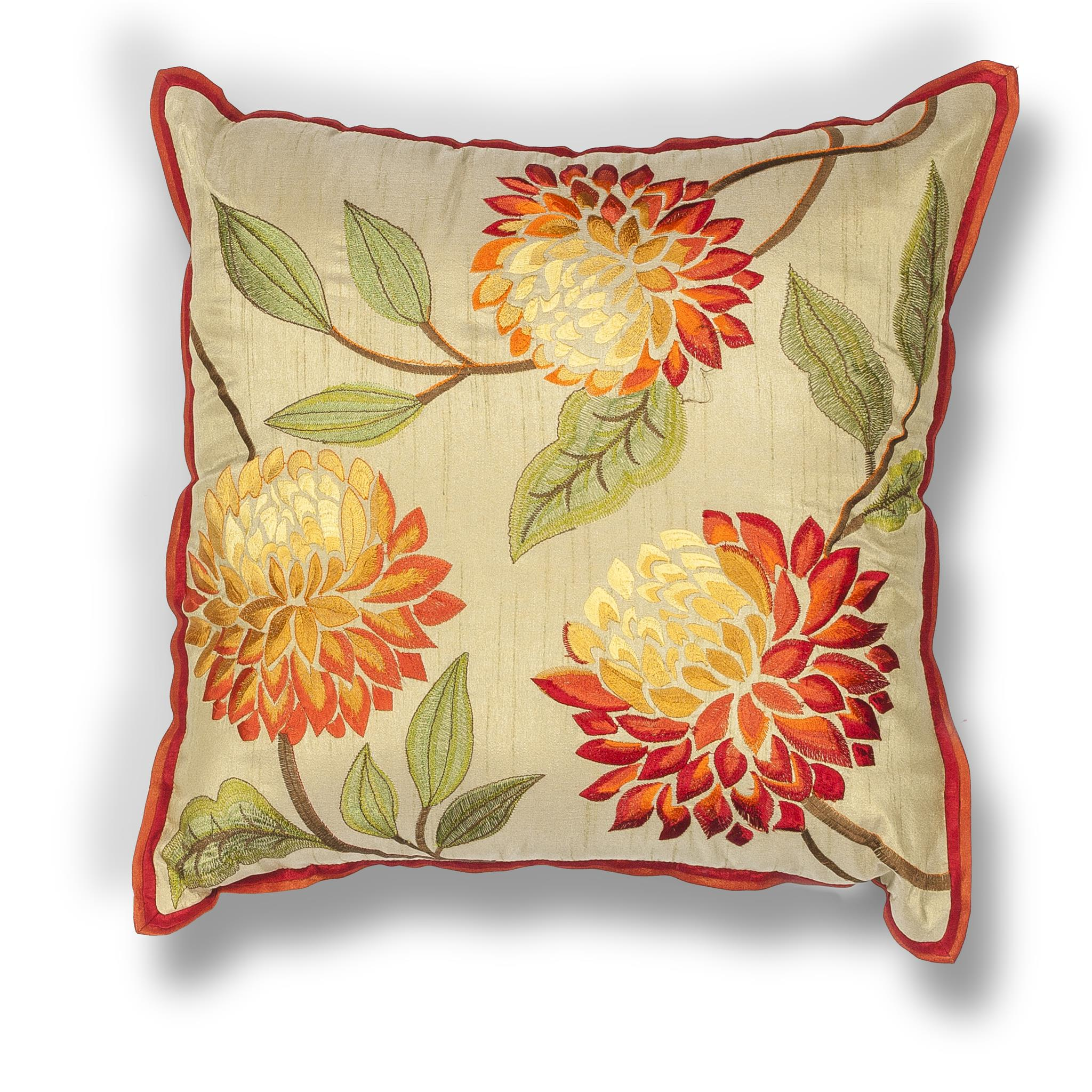 L173 Red Chrysanthamums Pillow