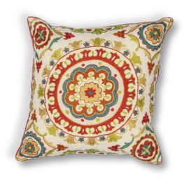 L174 Red Suzani Pillow