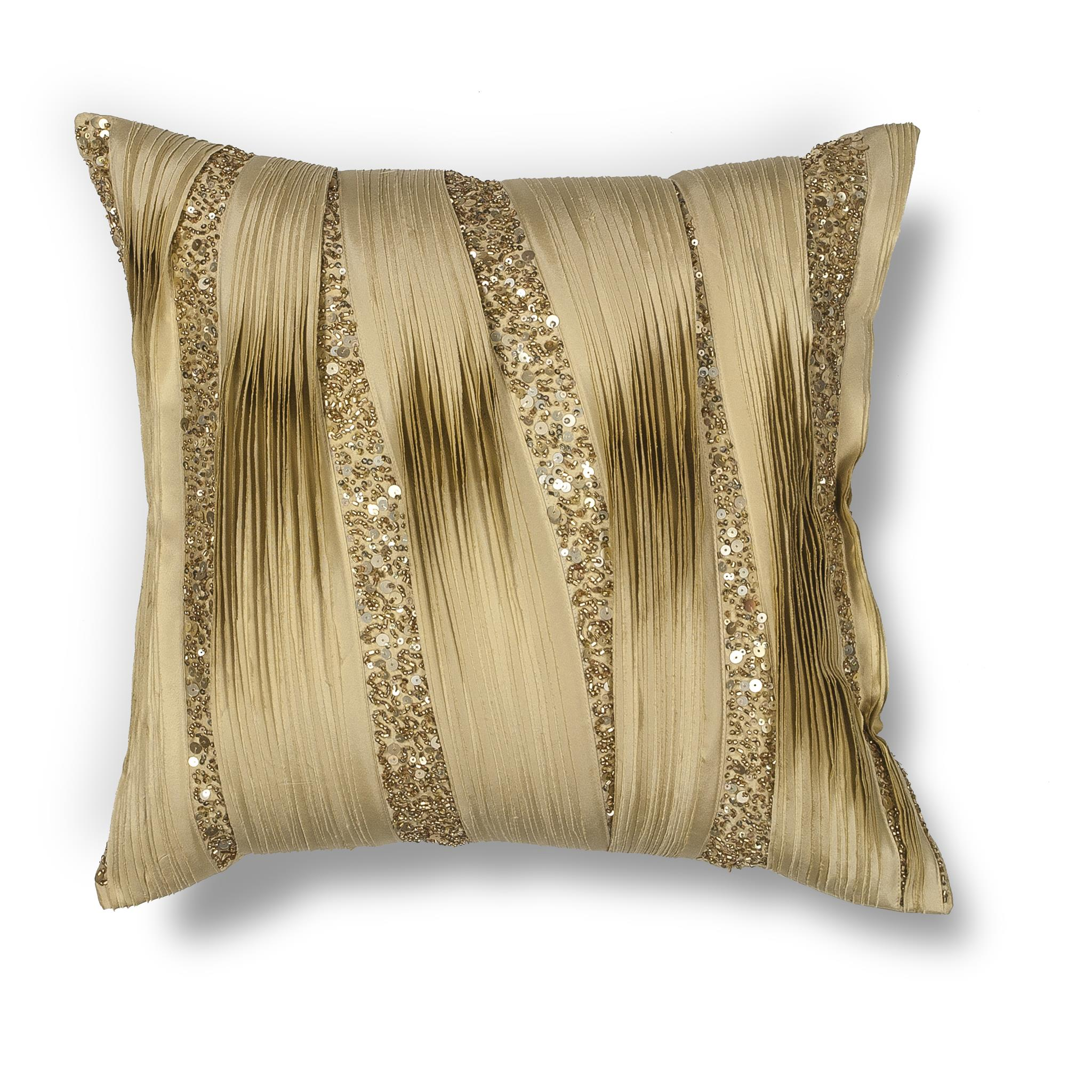 L181 Gold Ruffles Pillow