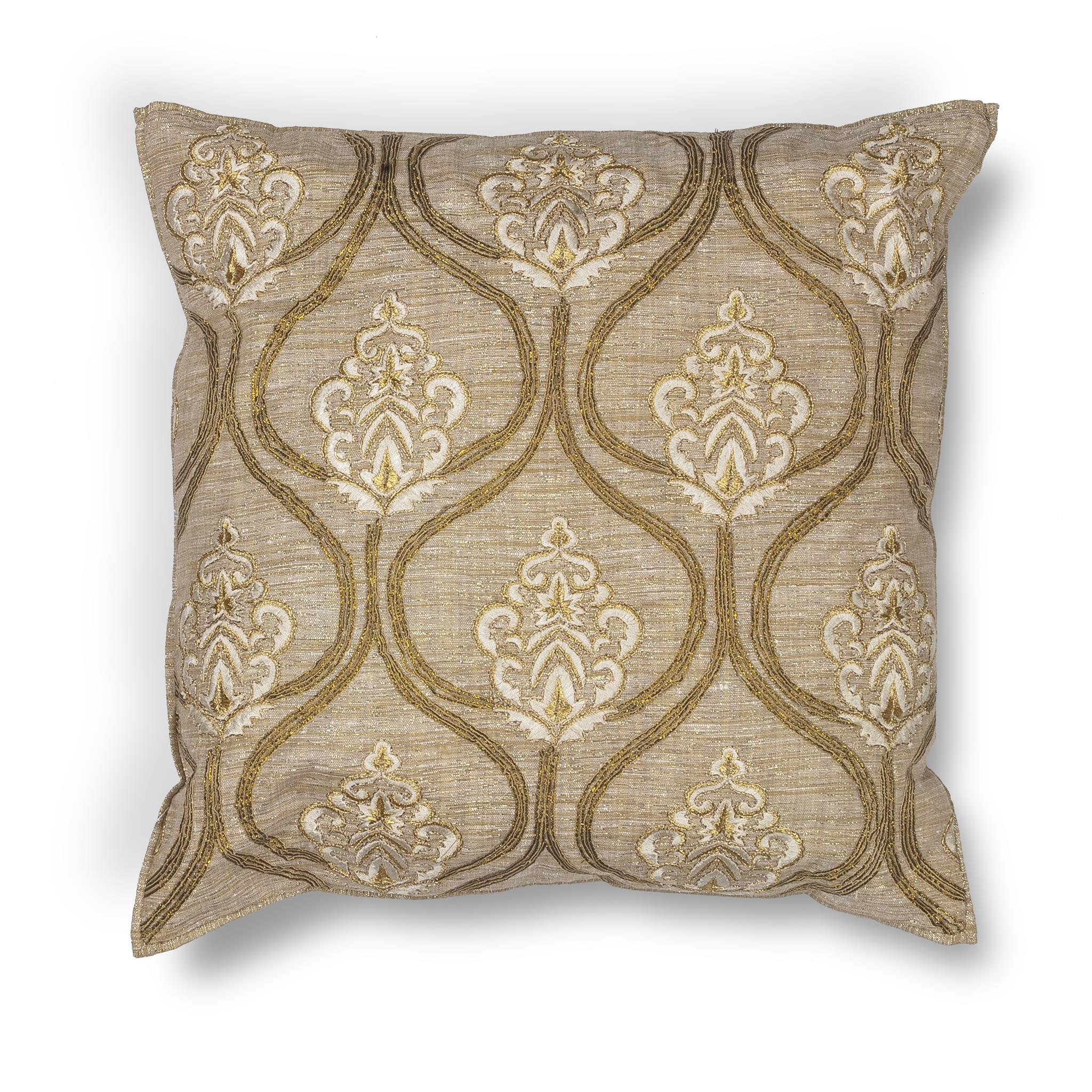 L182 Gold Damask Pillow