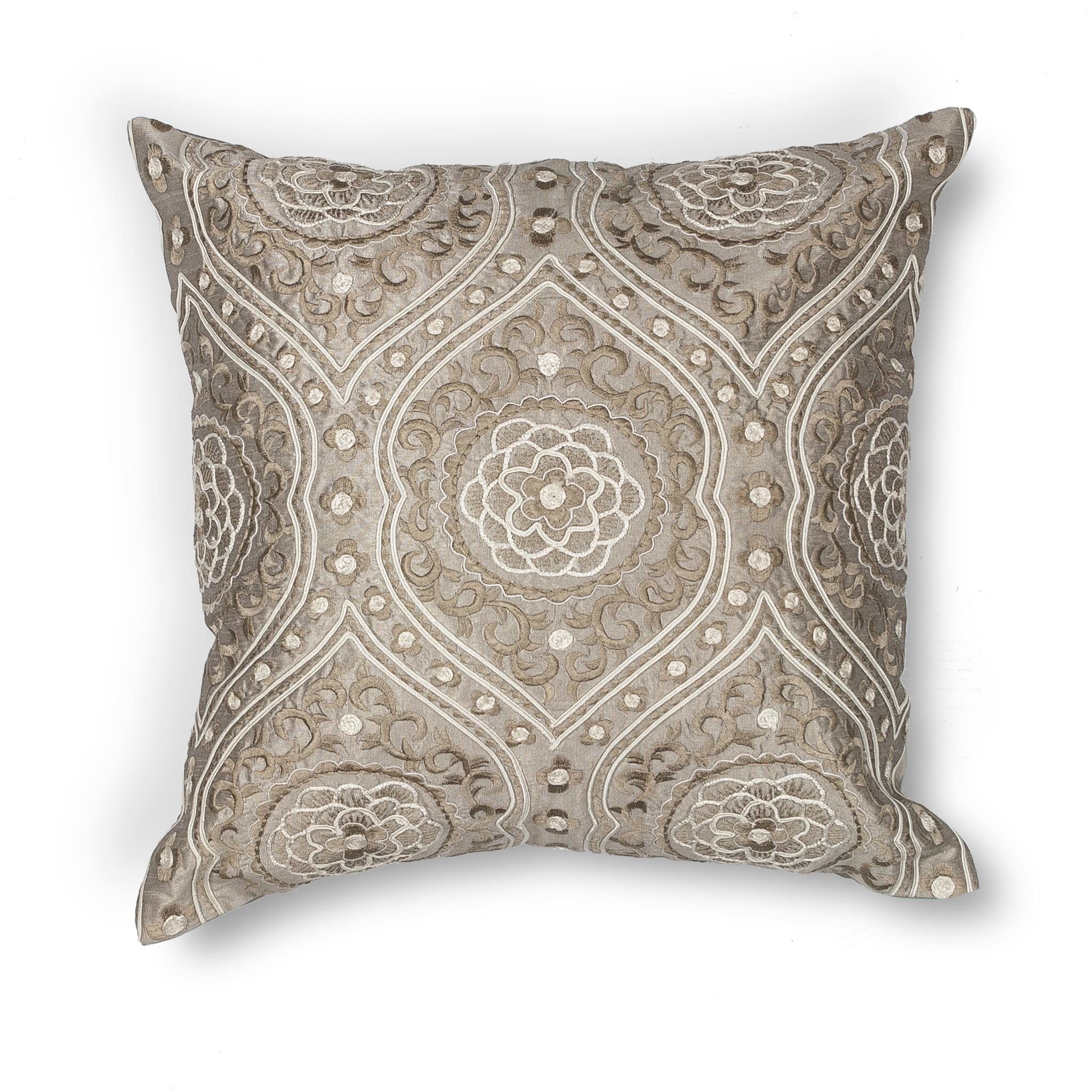 L183 Silver Damask Pillow