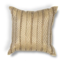 L184 Gold Sari Silk Pillow