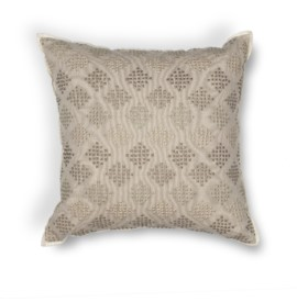 L185 Donny Osmond Home Taupe Diamonds Pillow