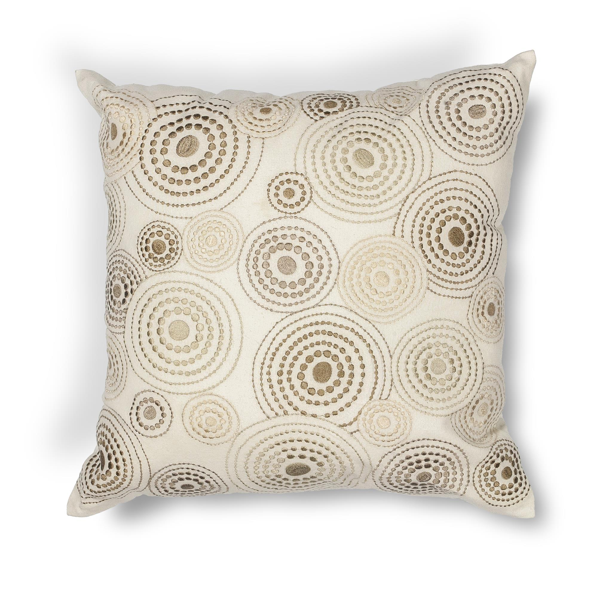 L186 Donny Osmond Home Ivory Concentric Pillow