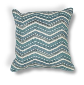 L190 Teal Chevron Pillow