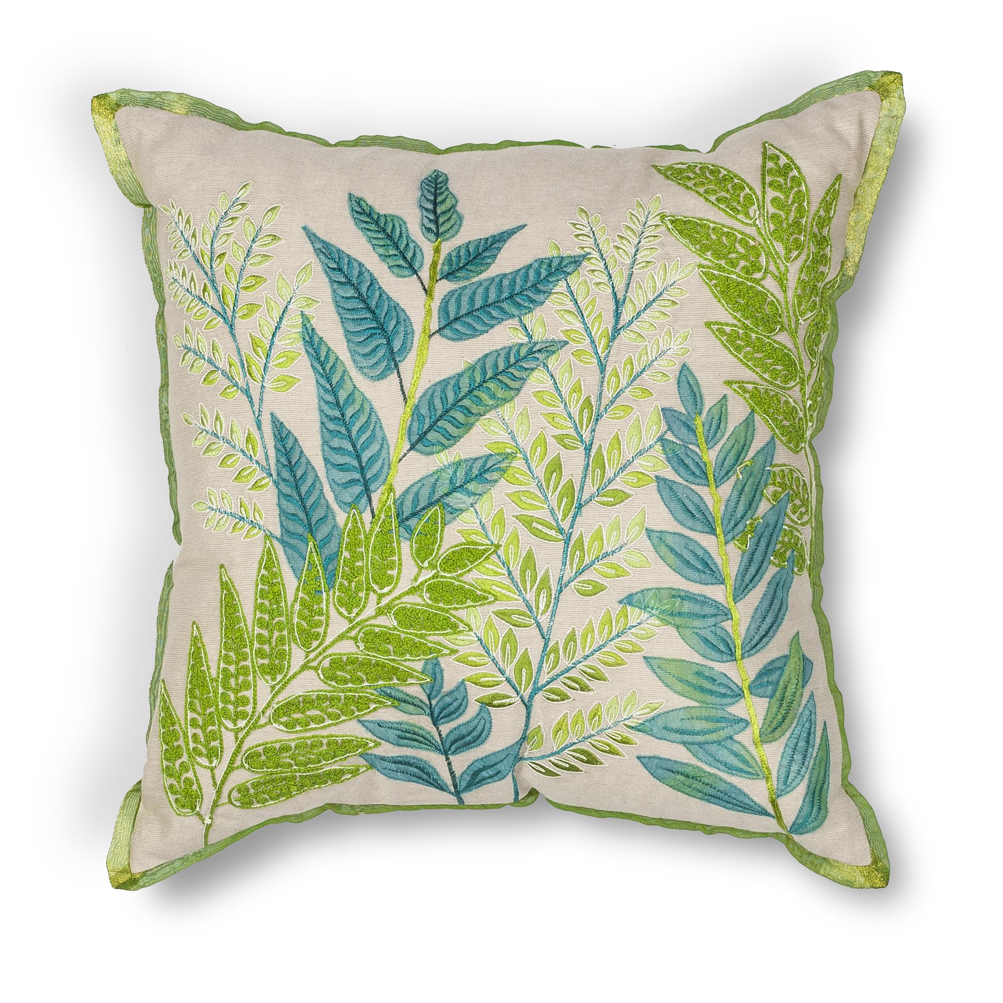 L192 Donny Osmond Home Blue-Green Garden Pillow