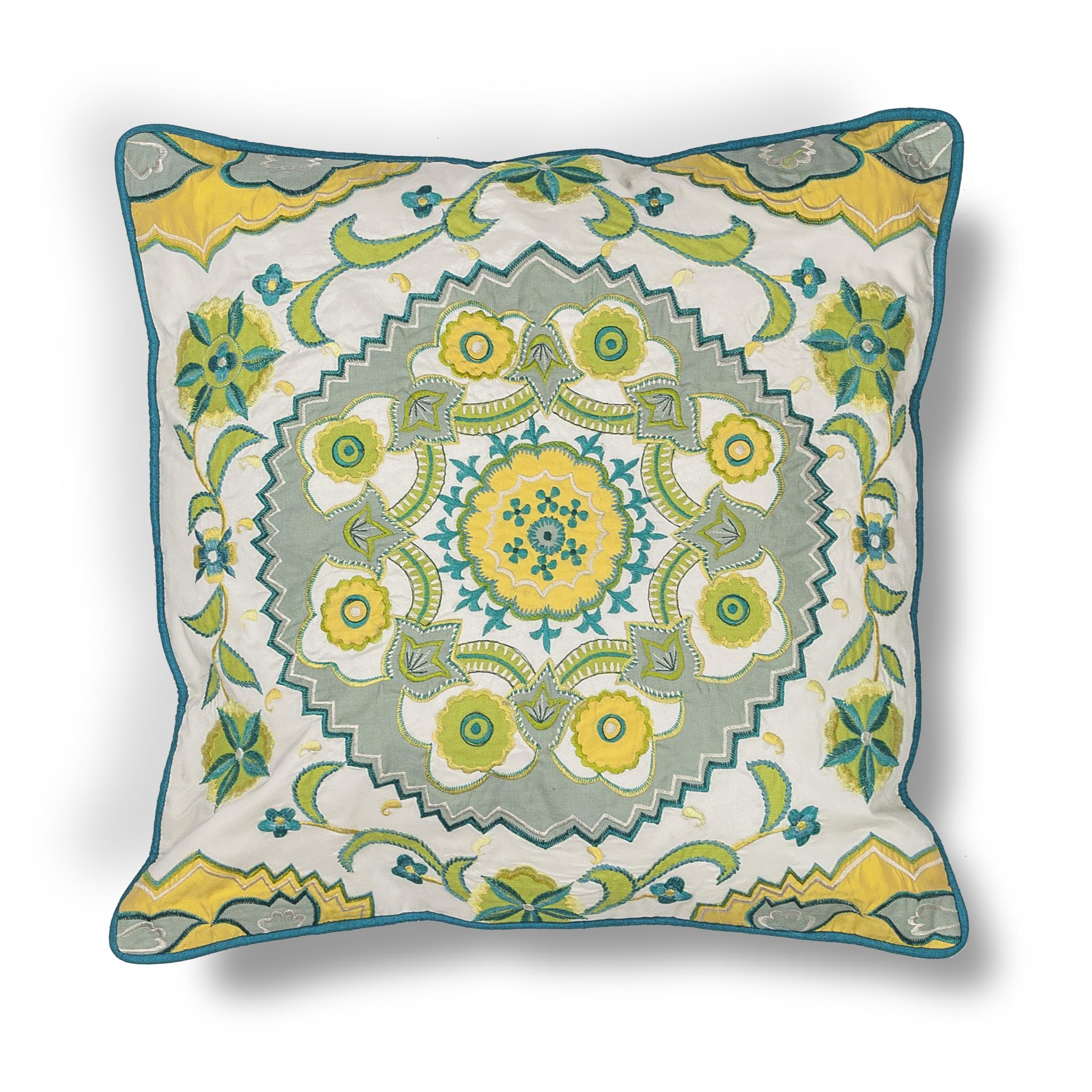 L194 Blue-Green Suzani Pillow