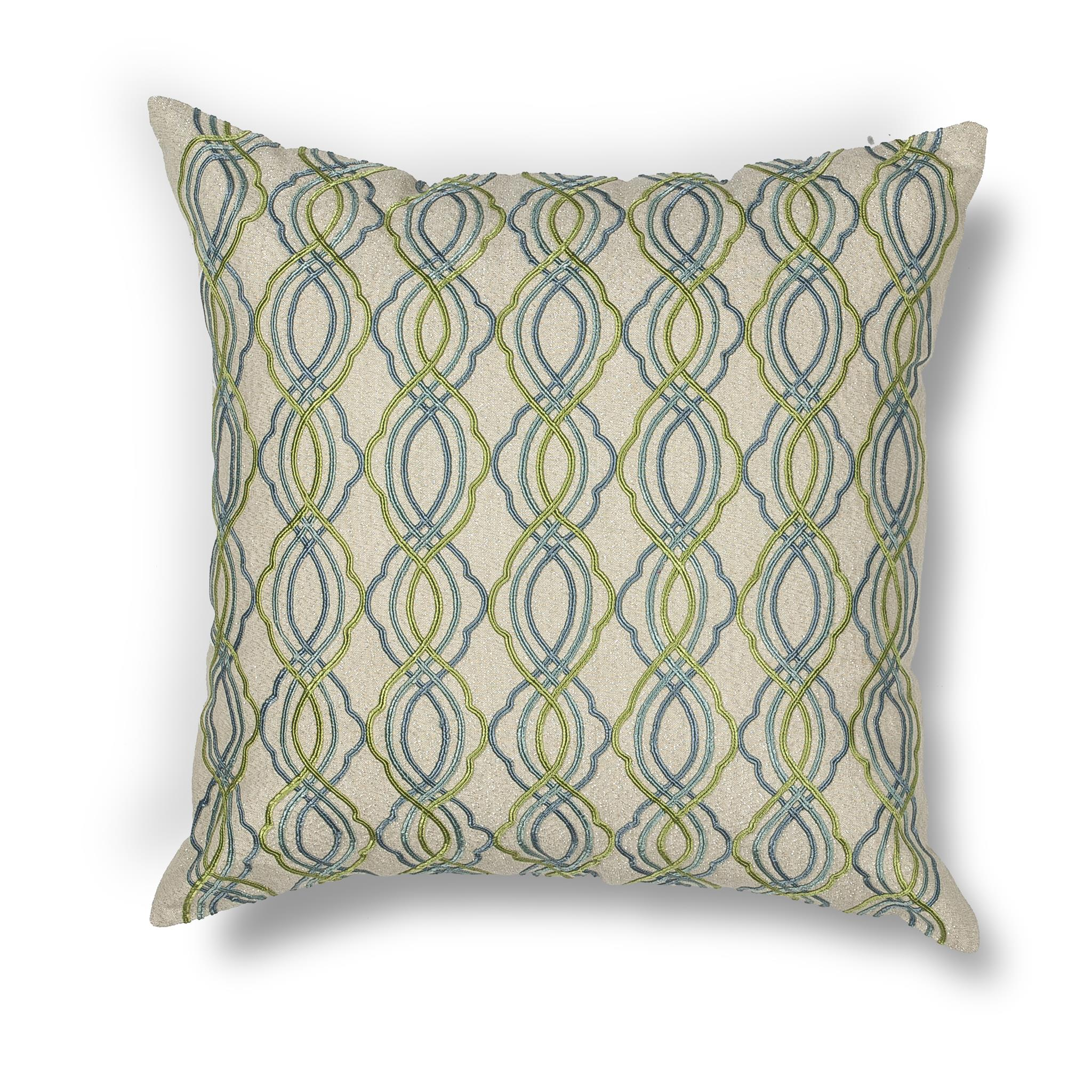 L195 Donny Osmond Home Blue-Green Waves Pillow