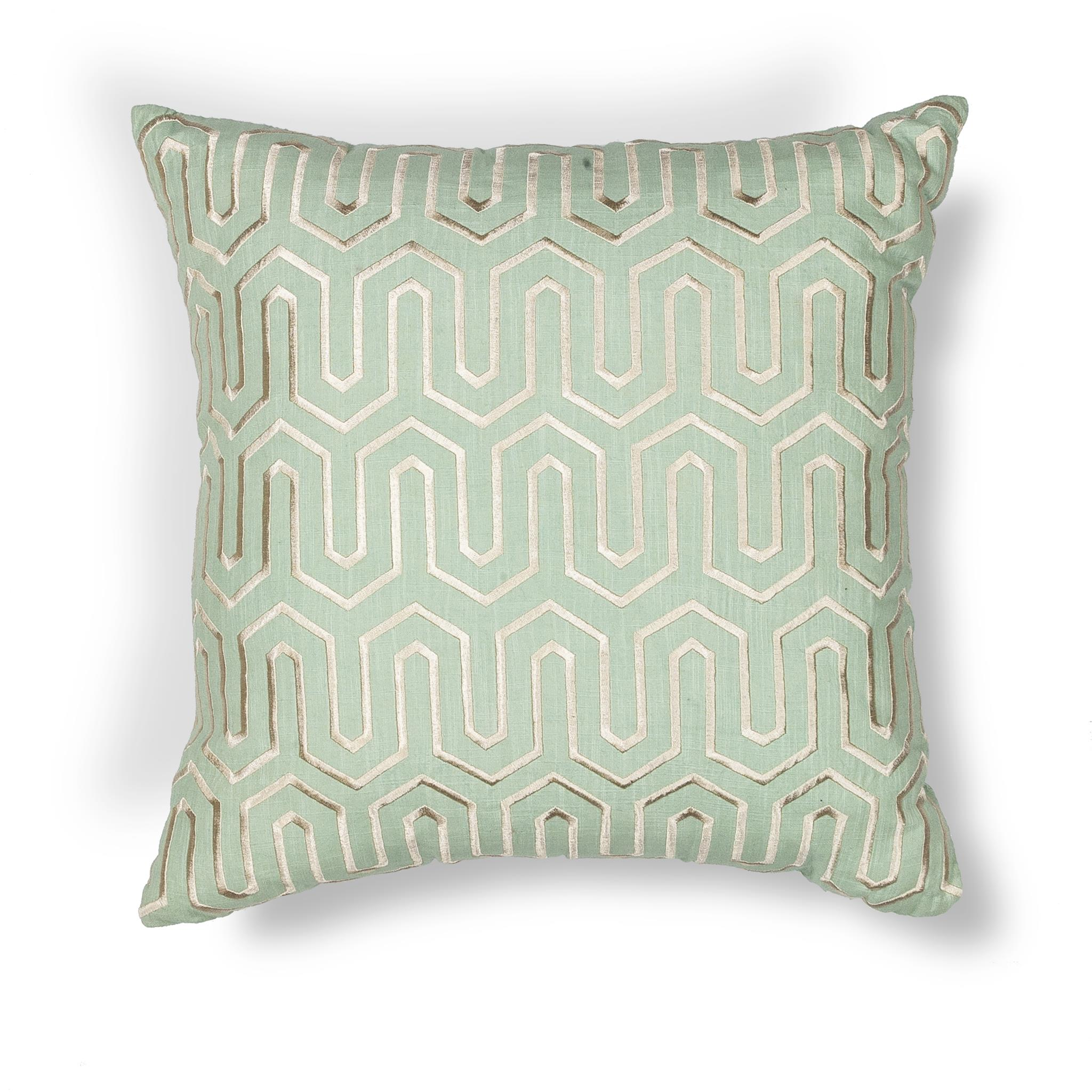L200 Donny Osmond Home Seafoam Geo Pillow