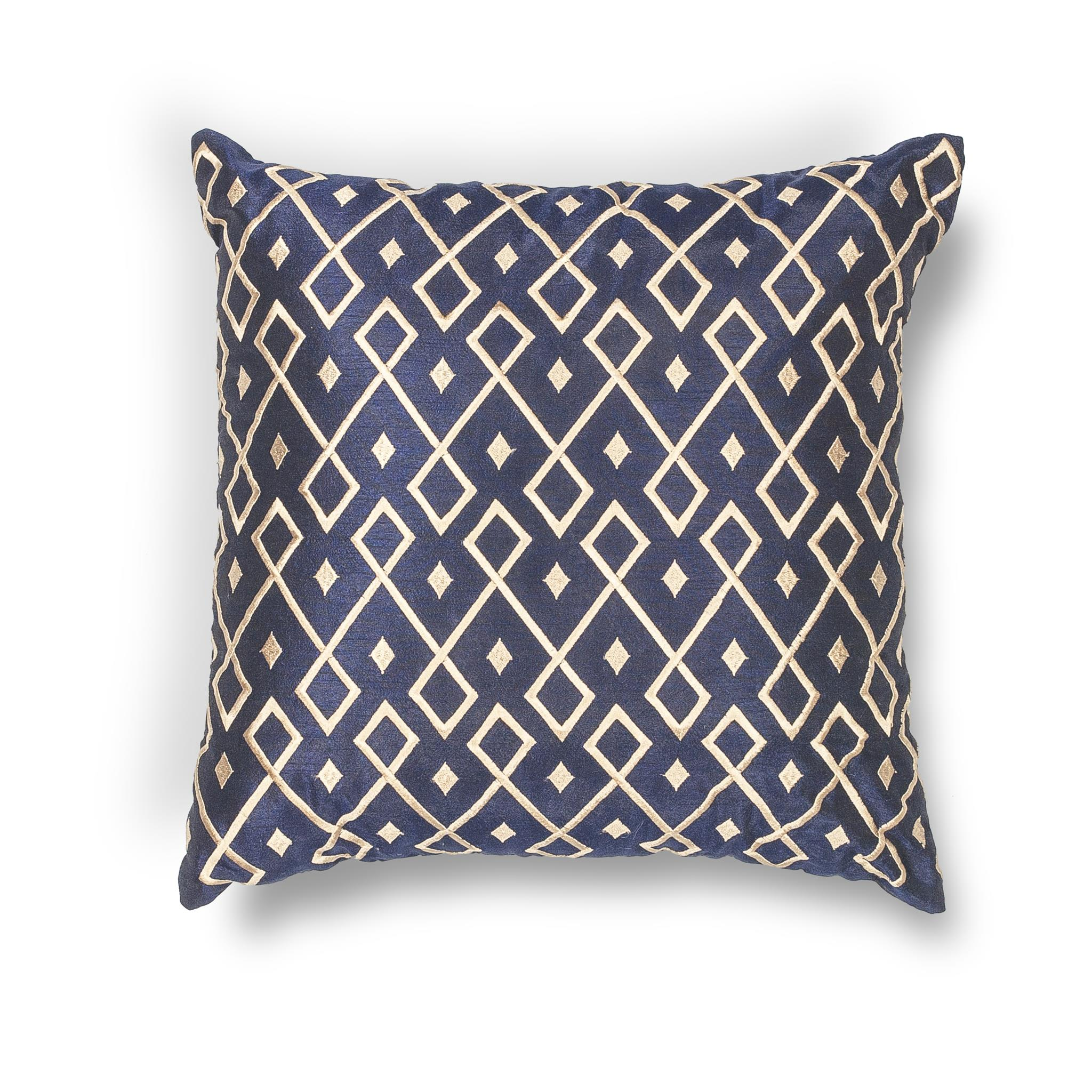 L203 Donny Osmond Home Gold-Navy Diamonds Pillow