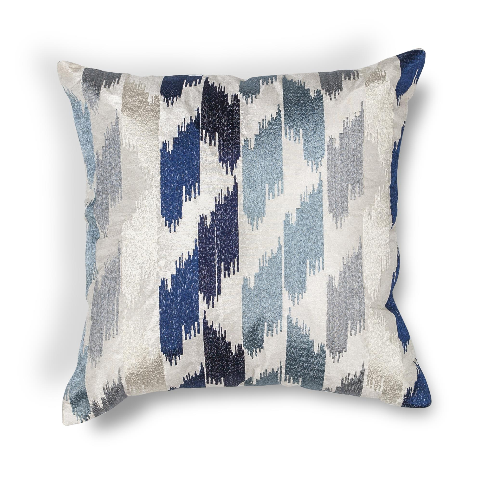 L206 Donny Osmond Home Blue Watercolors Pillow
