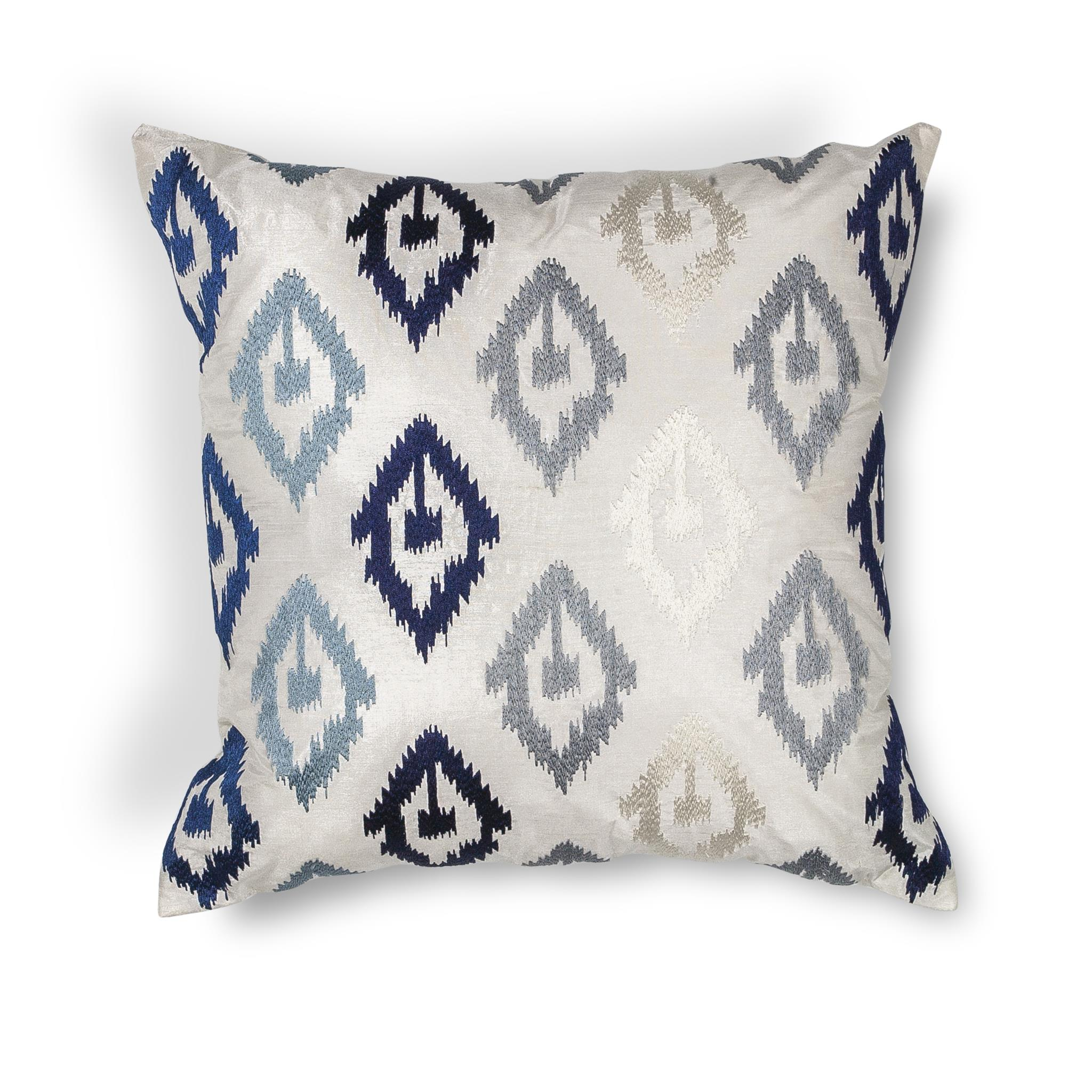 L207 Donny Osmond Home Blue Ikat Pillow