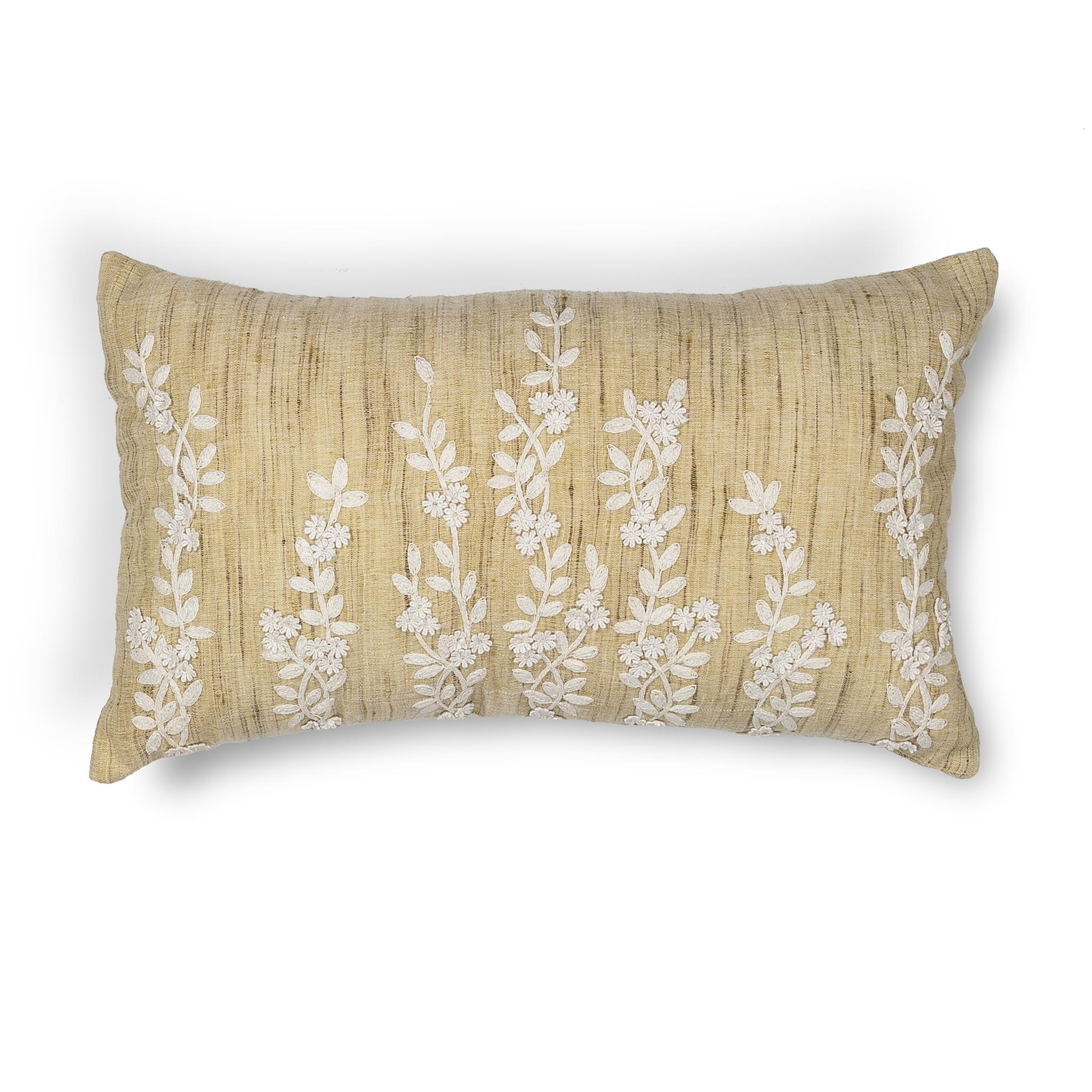 L216 Beige Vines Pillow