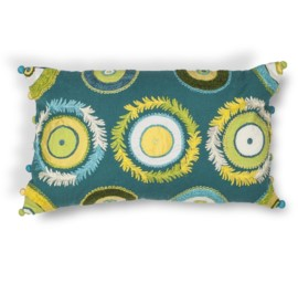 L218 Blue-Green Circles Pillow