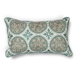 L219 Donny Osmond Home Teal Medallions Pillow