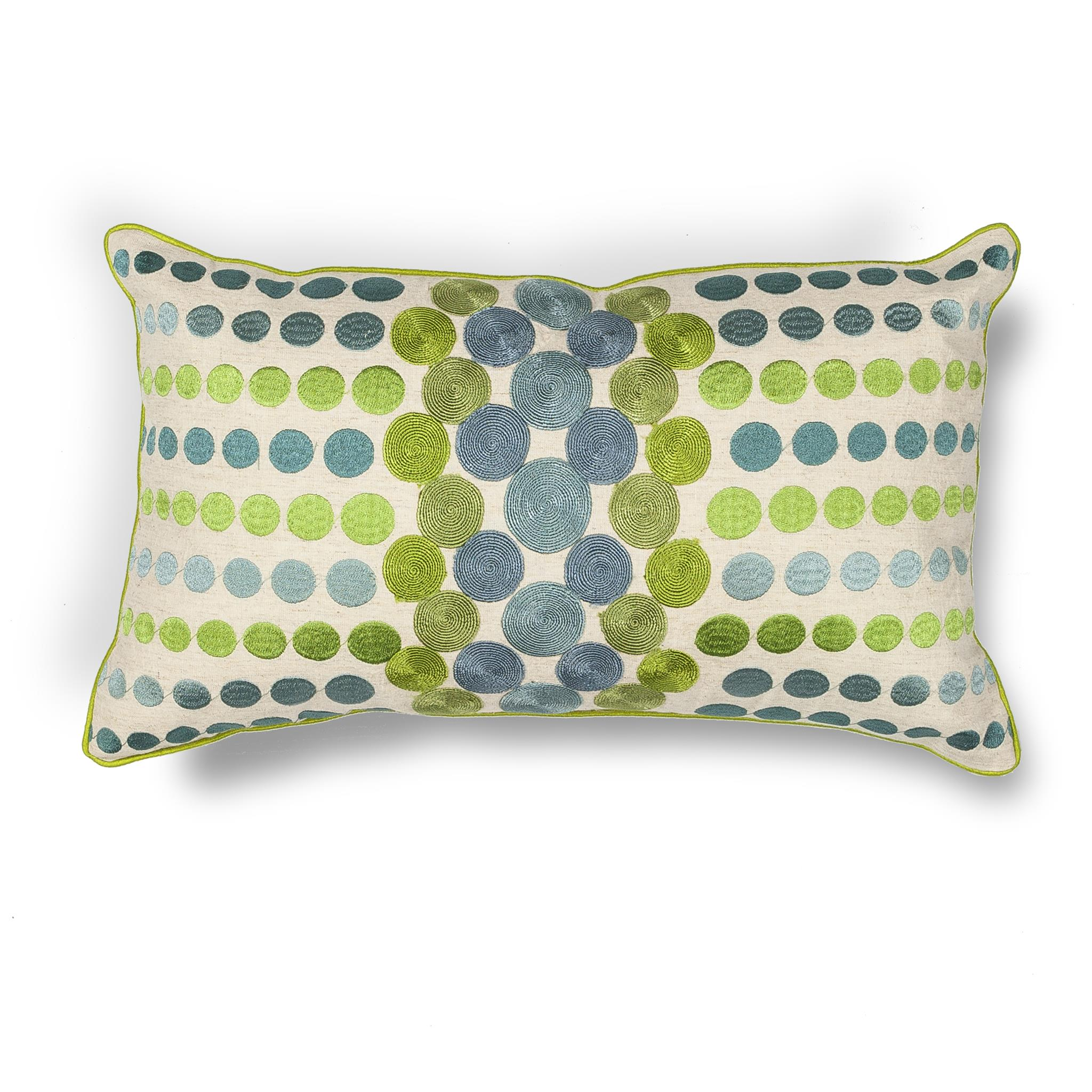 L220 Donny Osmond Home Blue-Green Circles Pillow
