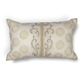 L222 Ivory Damask Pillow