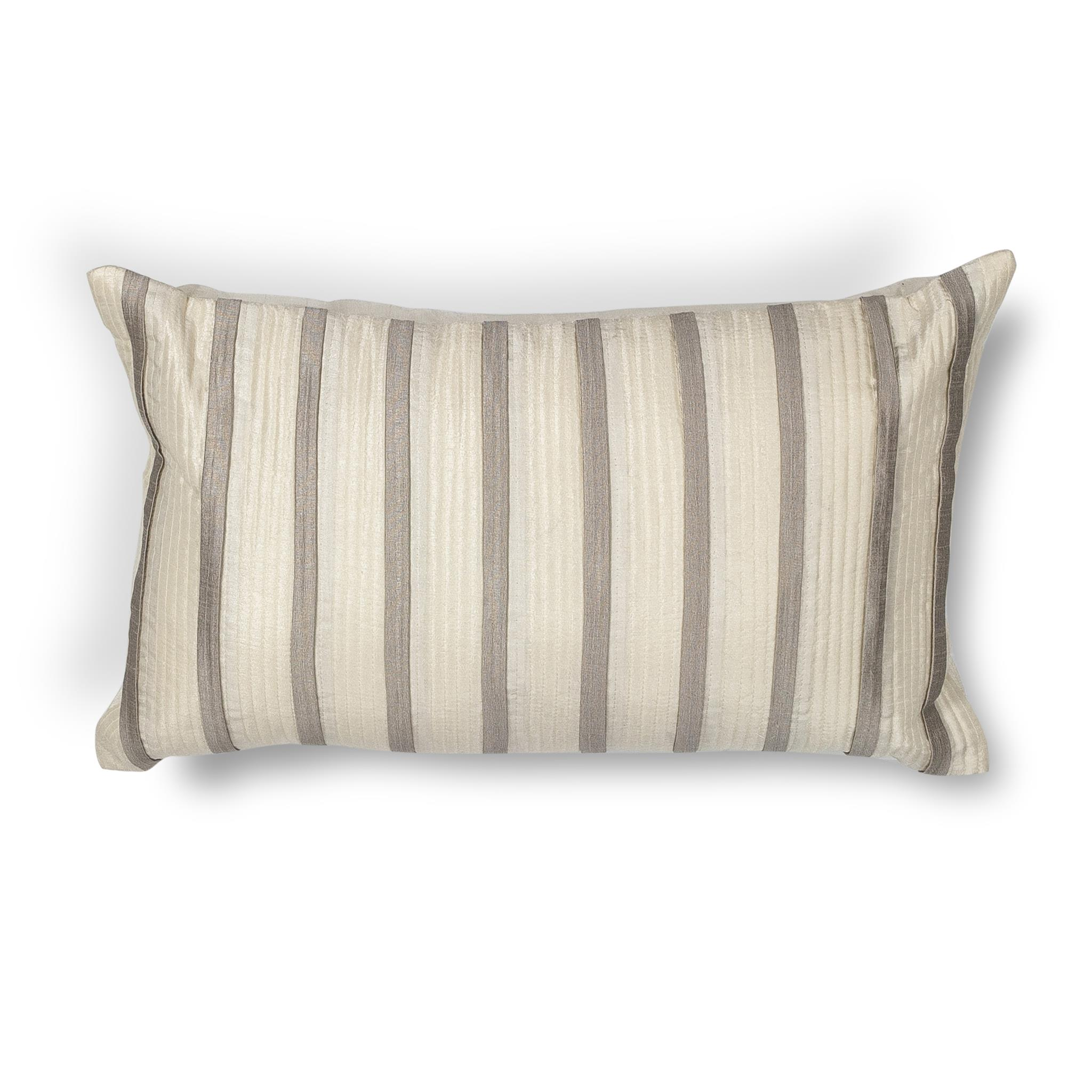 L223 Donny Osmond Home Ivory-Grey Stripes Pillow